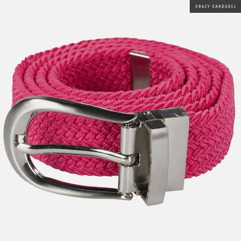 Horze pink stretch belt one size