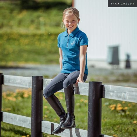Horze kids light blue shirt
