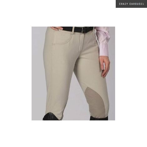 Kids Tuscany Equestrian Knee Patch Beige Breeches