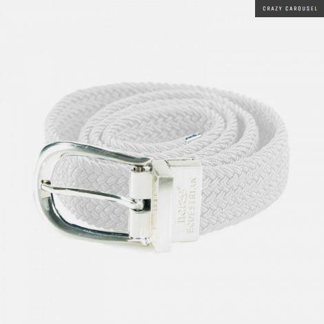 Horze white stretch belt