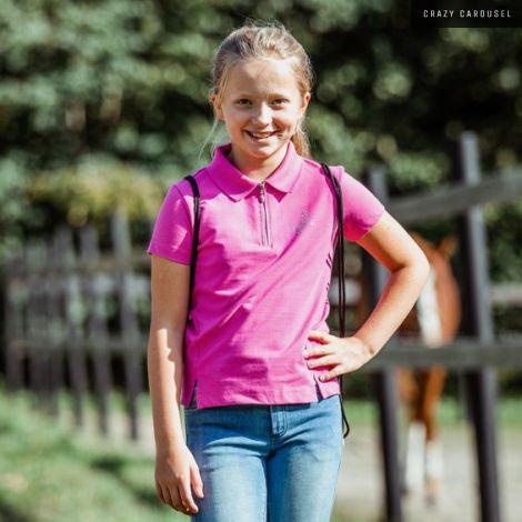 Horze kids pink shirt