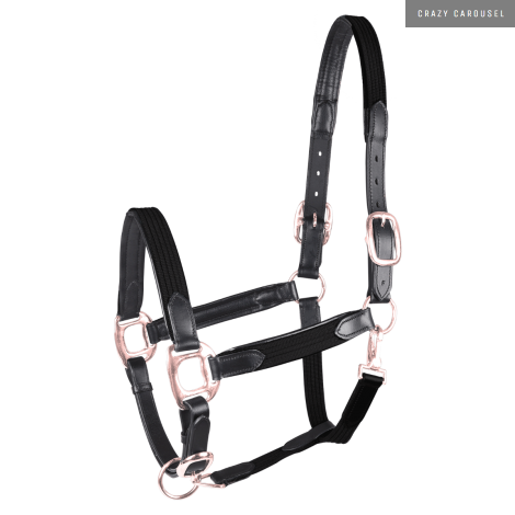 Leather halter mix rose gold