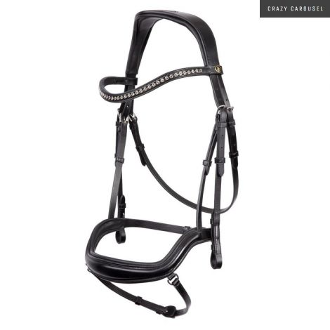 BR Stanley Anatomical Snaffle Bridle FULL