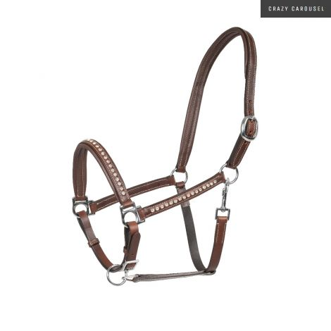 leather crystal horze halter