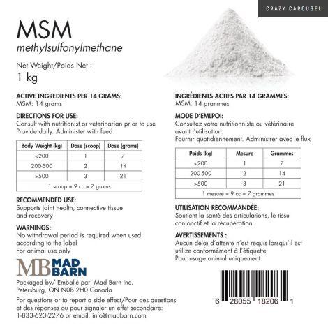 MSM (methylsulfonylmethane) par Mad Barn