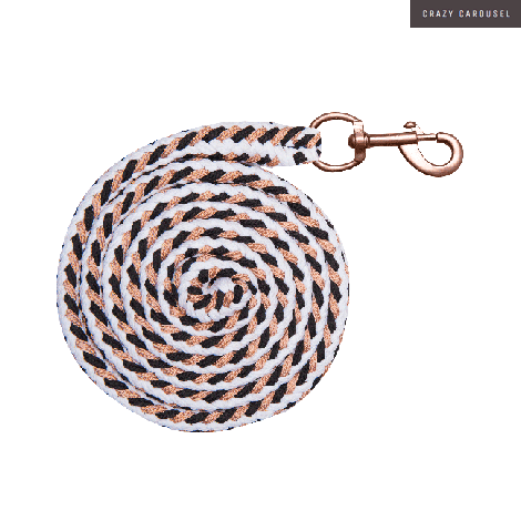 Lead rope rose gold white-rose