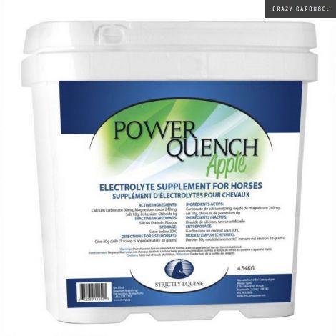 Supplément d'électrolytes pour chevaux Power Quench saveur pomme